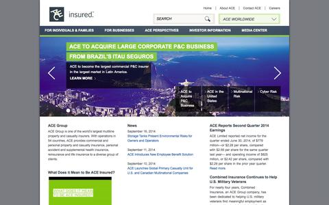 ACE Group - A Leading Global Insurance and Reinsurance Organization