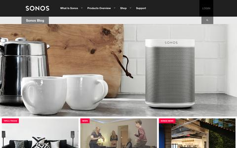 Screenshot of Blog sonos.com - SONOS | The Sonos Blog - captured March 29, 2016