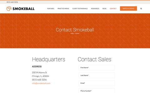 Contact - Smokeball