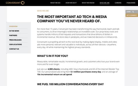 Who We Are | Digital Marketing Solutions | Conversant