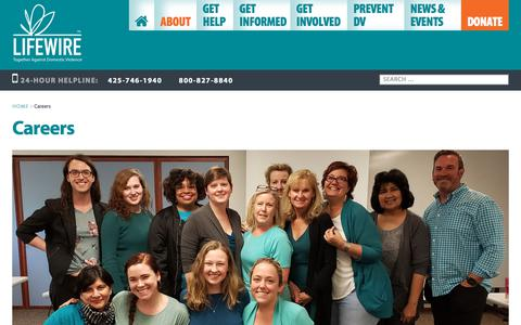 Screenshot of Jobs Page lifewire.org - Careers Archives - LifeWire - captured Aug. 14, 2019