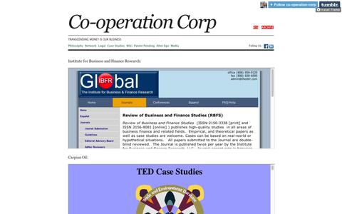 Screenshot of Case Studies Page tumblr.com - Co-operation Corp - captured Sept. 11, 2014