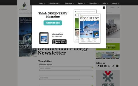 Screenshot of Signup Page thinkgeoenergy.com - ThinkGeoEnergy Geothermal Newsletter | Think GeoEnergy - Geothermal Energy News - captured Sept. 30, 2014
