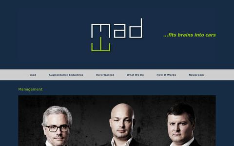 Screenshot of Team Page mad.ai - Management | mad - captured July 20, 2014