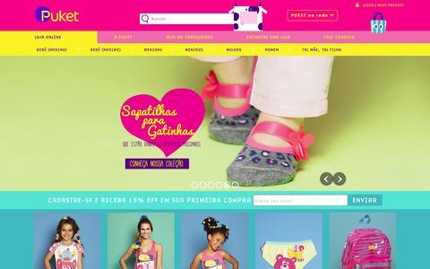 Screenshot of Home Page puket.com.br - PUKET | Meias, Pijamas e Acessórios | PUKET - captured Dec. 13, 2015