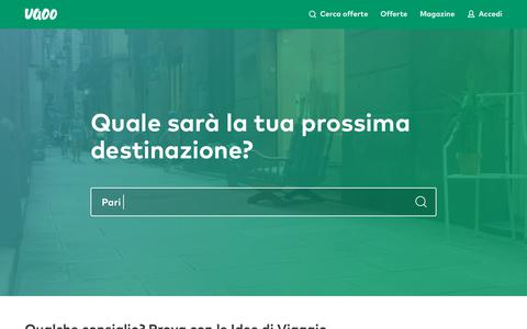 Screenshot of Home Page uaoo.it - Week-end tematici al miglior prezzo | Uaoo - captured Oct. 18, 2018