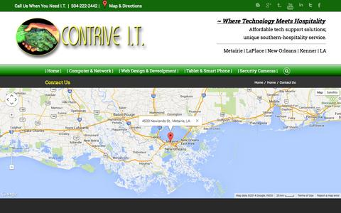 Screenshot of Contact Page contrive-it.net - Contrive I.T.   –  Contact Us - captured Sept. 30, 2014