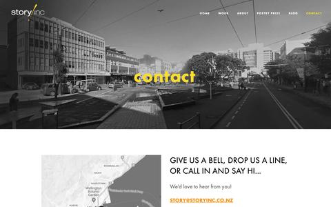 Screenshot of Contact Page storyinc.co.nz - Contact — Story Inc - captured Oct. 20, 2018