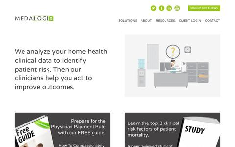 Medalogix   Home Health Analytics and Workflow TechnologyMedalogix   Home Health Analytics and Workflow Technology