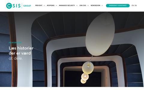 Screenshot of Press Page csis.dk - Læs historier indenfor cybersikkerhed der er værdat dele. - captured Sept. 23, 2018
