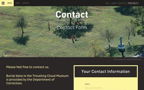 Screenshot of Contact Page hartisland.net - HartIslandProject - captured Feb. 16, 2016