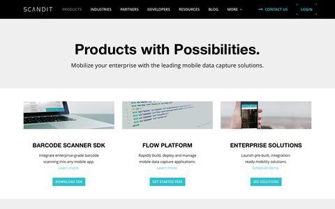 Products - Barcode Scanner SDK & Enterprise App Solutions