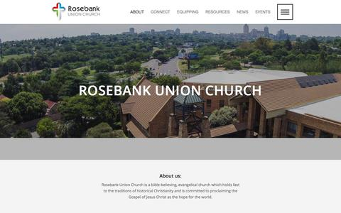 Screenshot of About Page ruc.org.za - About Rosebank Union Church- What gets us excited? - captured Oct. 20, 2017