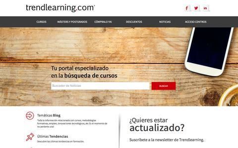 Screenshot of Blog trendlearning.com - Blog de Formación y Empleo - captured Feb. 25, 2016