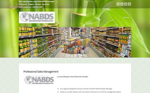 Screenshot of Home Page nabds.com - Blank Title - Home - captured Oct. 6, 2014