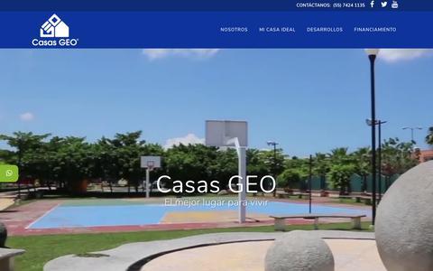 Screenshot of Home Page casasgeo.com - Home - Casas GEO - captured July 13, 2018