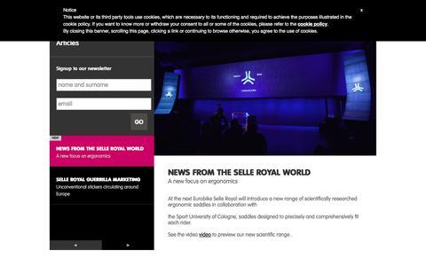 Screenshot of Press Page selleroyal.com - News   Selle Royal - captured Jan. 20, 2016
