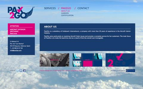 Screenshot of About Page pax2go.eu - About us | Pax2Go - captured Sept. 29, 2014