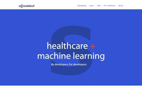 Screenshot of Home Page scalabull.com - Scalabull - captured Oct. 25, 2018