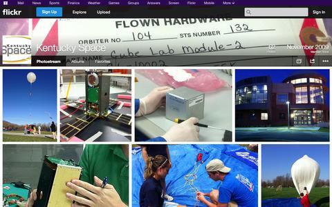 Screenshot of Flickr Page flickr.com - Flickr: Kentucky Space's Photostream - captured Oct. 23, 2014