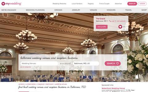 Baltimore Wedding Venues & Wedding Reception Locations - mywedding.com