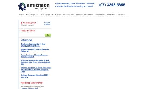 Screenshot of Terms Page smithsonequipment.com.au - Smithson Equipment - Terms & Conditions - captured Oct. 7, 2014