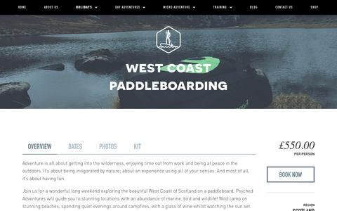 West Coast paddleboarding — Psyched Adventures