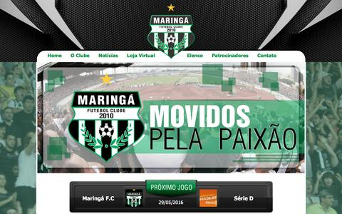 Screenshot of Home Page maringafc.com - Maringá Futebol Clube - captured May 4, 2016
