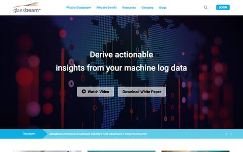 Screenshot of Case Studies Page glassbeam.com - Machine Log Data Analytics - Big Data analytics Platform - captured April 24, 2018