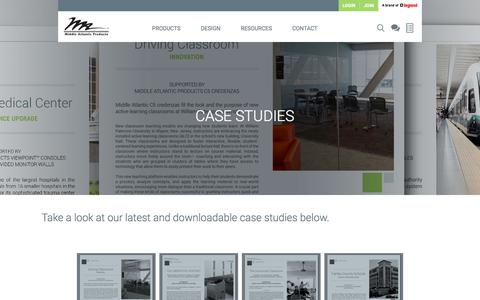 Screenshot of Case Studies Page middleatlantic.com - Case Studies | Middle Atlantic - captured Sept. 24, 2018