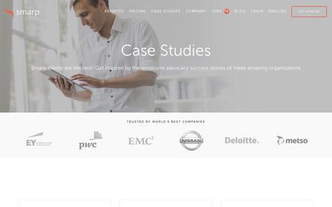 Screenshot of Case Studies Page smarp.com - Case Studies   Smarp - captured Jan. 13, 2016