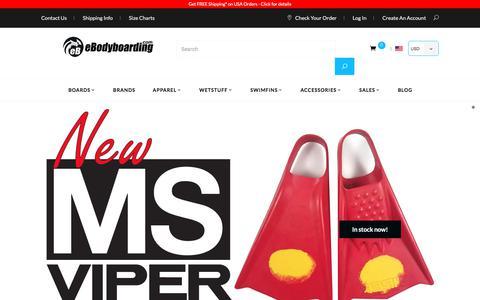 Screenshot of Home Page ebodyboarding.com - Bodyboards and bodyboarding gear - captured June 22, 2017