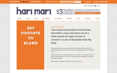 Screenshot of About Page harimari.com - Hari Mari » About Hari Mari - captured Sept. 19, 2014