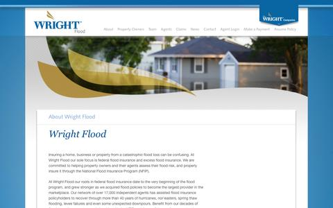 Screenshot of About Page wrightflood.com - Wright Flood - About - captured Aug. 14, 2016