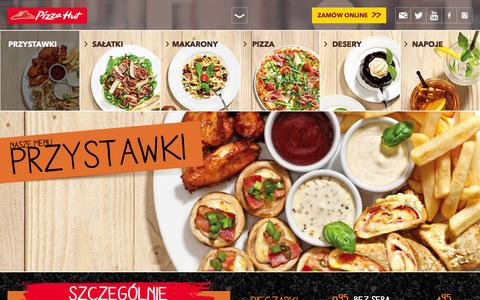 Screenshot of Menu Page pizzahut.pl - NASZE MENU | Pizza Hut - captured Jan. 16, 2016