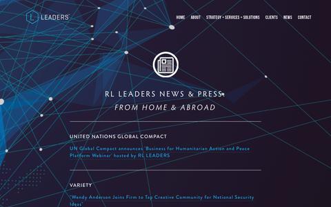 Screenshot of Press Page rlleaders.com - NEWS — RL Leaders - captured June 18, 2017