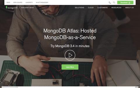 MongoDB for GIANT Ideas | MongoDB