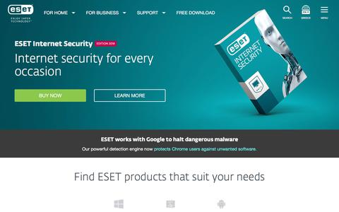 Antivirus and Internet Security Solutions | ESET