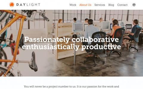 Screenshot of About Page thedaylightstudio.com - Meet Our Team | Portland Digital Agency | Daylight Studio - captured May 24, 2017