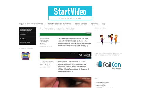 Screenshot of Blog startvideo.es - Noticias | START VIDEO - captured July 21, 2016