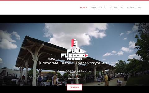Screenshot of Home Page fullfledgedmedia.com - Full Fledged Media - Maryland Video Production Company - Home - captured June 6, 2017