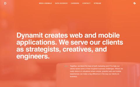 Dynamit: Web and Mobile Applications