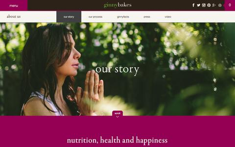Screenshot of About Page ginnybakes.com - our story | ginnybakes - captured Sept. 19, 2014