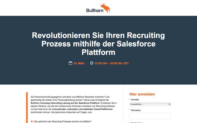 Webinar: Revolutionieren Sie Ihren Recruiting Prozess mithilfe der Salesforce Plattform