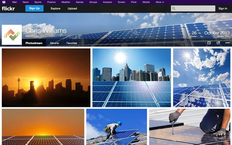 Screenshot of Flickr Page flickr.com - Flickr: Natural Solar's Photostream - captured Oct. 26, 2014