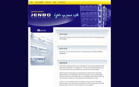 Screenshot of Press Page jenbousa.com - News: Jenbo USA - captured Sept. 30, 2014