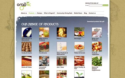 Screenshot of Products Page liveorganicstore.com - Our range of products | Live Organic - captured Oct. 2, 2014