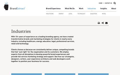 Industries We Serve - BrandExtract