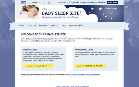 Screenshot of Login Page babysleepsite.com - Welcome to The Baby Sleep Site!   The Baby Sleep Site - Baby Sleep Help   Toddler Sleep Help   Personalized Sleep Consulting - captured Sept. 19, 2014
