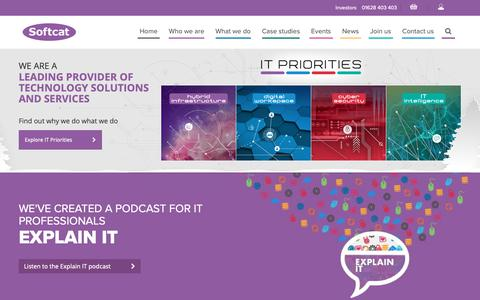 Screenshot of Home Page softcat.com - IT Infrastructure Provider | Softcat - captured Dec. 16, 2018